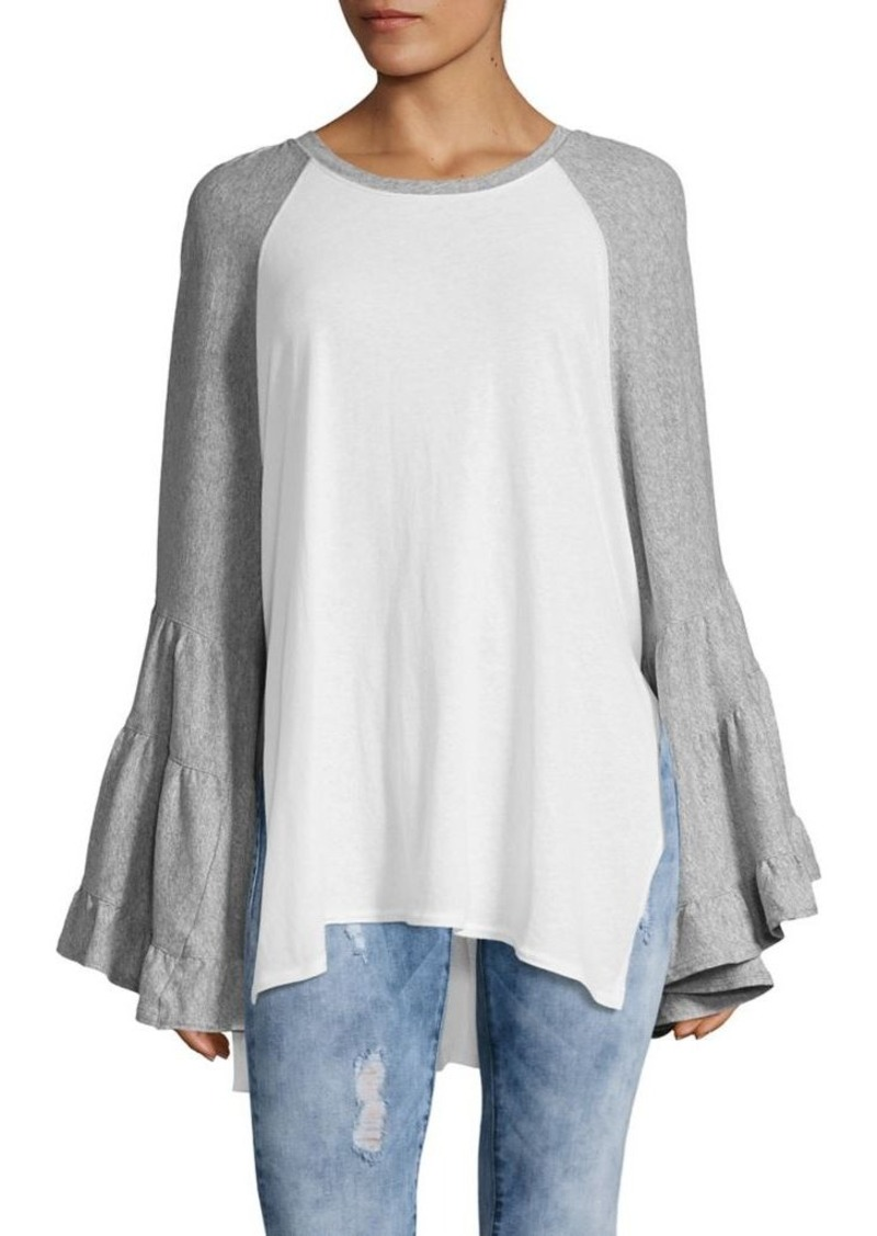 Free People Free People Raglan Bell Sleeve Cotton Baseball