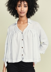Free People Rainbow Picnic Button Down