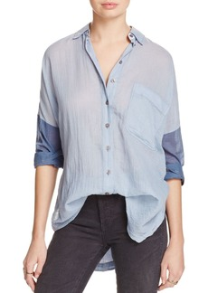 Free People Rainbow Rays Button-Down Shirt