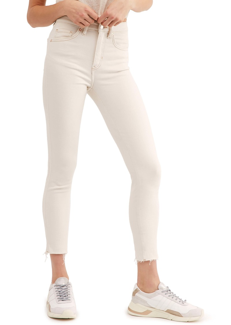 Free People Raw Hem Denim Leggings