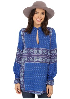 Free People Rayon Dobby Changing Times Printed Tunic