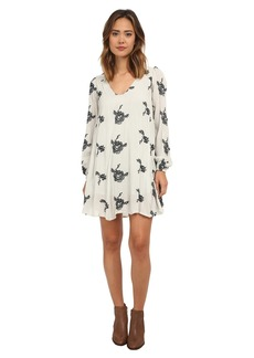 Free People Rayon Gauze Emmas Embroidered Dress