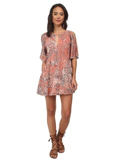 Free People Rayon Gauze Love Birds Mini Dress