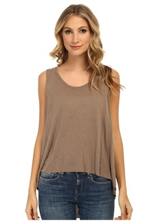 Free People Rayon Linen Jersey Cruz Cape Tank Top