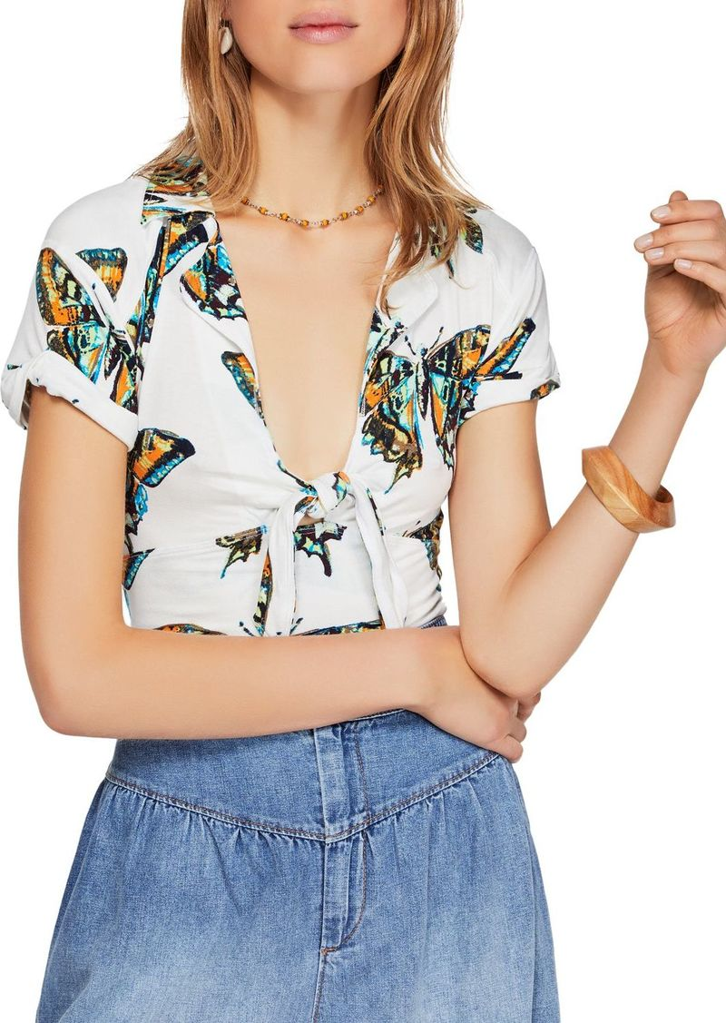 Free People Ready Set Sail Tie-Front Top