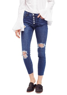 We the Free by Free People Reagan Destroyed Crop Skinny Jeans