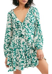 Free People Rebecca Ruffle Long Sleeve Minidress