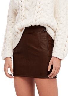 Free People Retro Faux Leather Body-Con Miniskirt