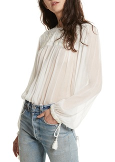 Free People Retro Sheer Blouse