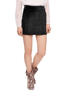 Free People Retro Velvet Mini Skirt