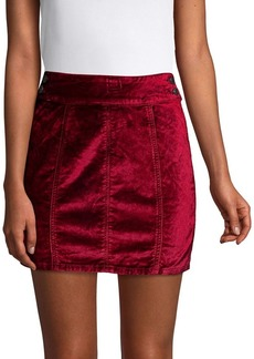 Free People Retro Velvet Skirt