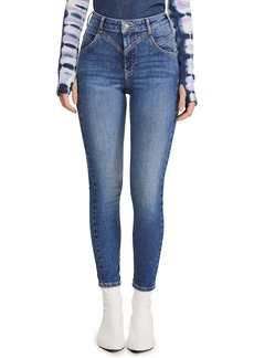 Free People Riley Back Seam Skinny Jeans