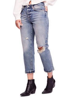 We the Free by Free People Ripped Crop Boyfriend Jeans