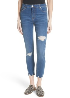 Free People Ripped Crop Skinny Jeans