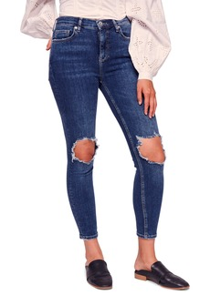 We the Free by Free People Ripped High Waist Ankle Skinny Jeans