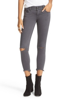 Free People Ripped Skinny Ankle Jeans