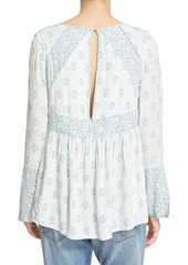 Free People 'Rolling Hills' Print Bell Sleeve Tunic