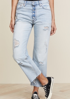 Free People Rolling on the River Straight Crop Jeans