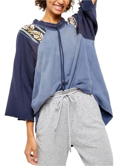 Free People Rosalee Drawstring Neck Pullover