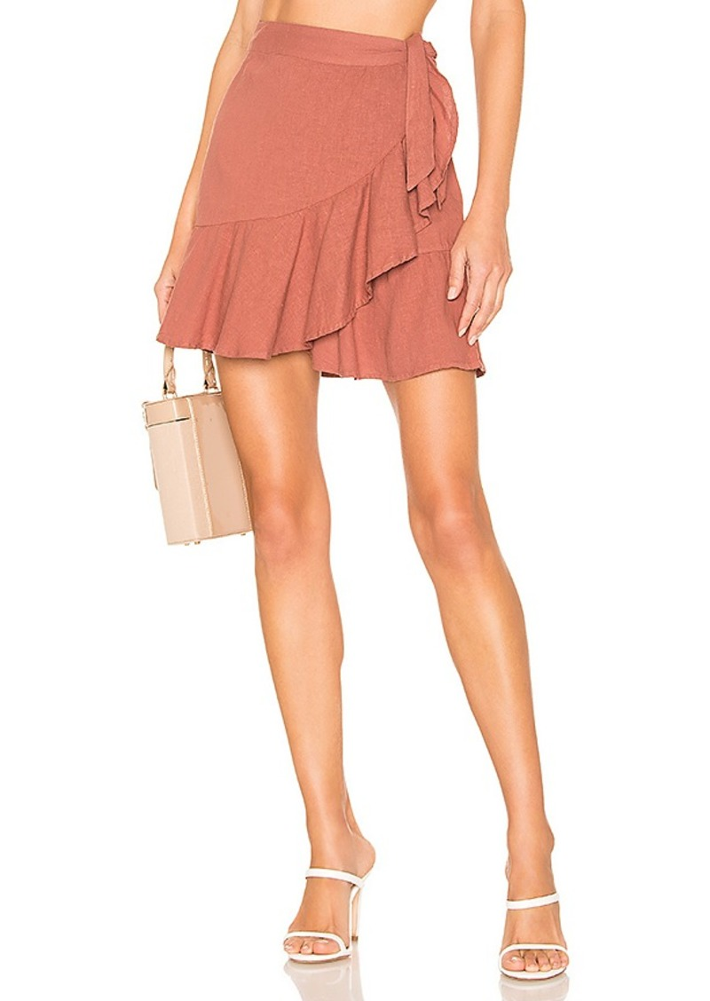 Free People Ruffle My Feathers Mini Skirt