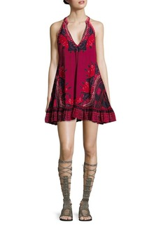 Free People Ruffled Floral Shift Dress