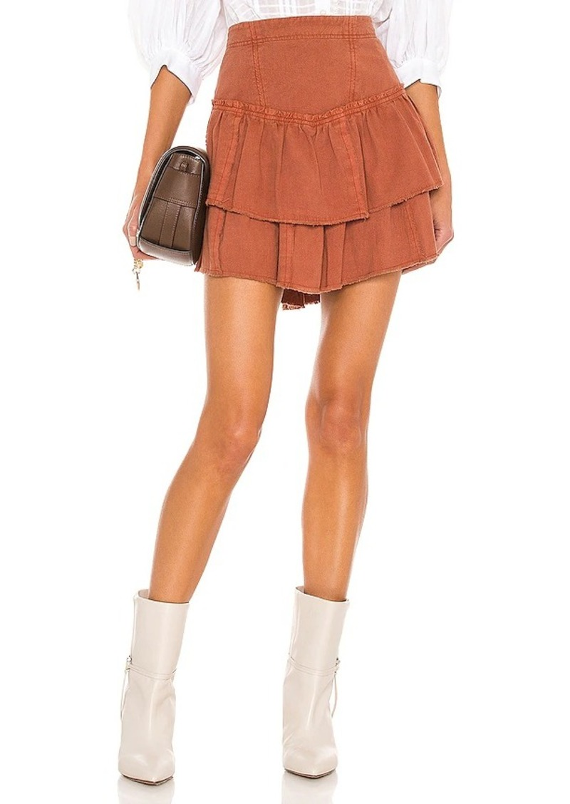 Free People Ruffles In The Sand Mini Skirt