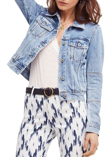 Free People Rumors Denim Jacket in Indigo Blue