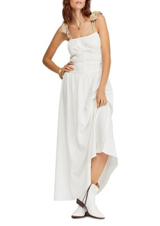 Free People Santorini Sleeveless Printed-Strap Maxi Dress