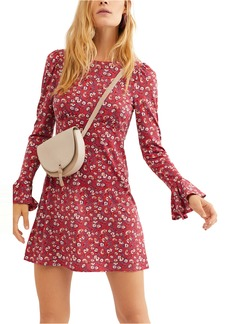 Free People Say Hello Long Sleeve Minidress