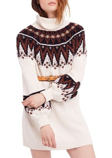 Free People Scotland Turtleneck Sweater Minidress