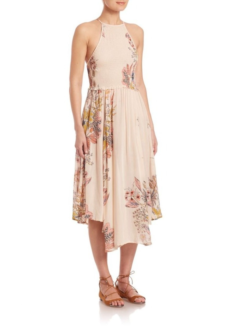 Free People Seasons In The Sun Printed Slip Dress