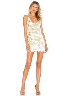 Free People Seeing Double Sequin Slip Dress in White. - size L (also in M,S,XS)
