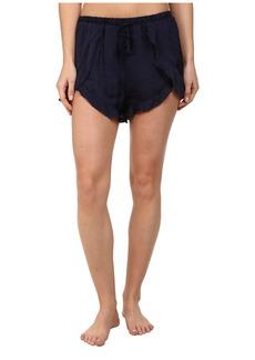 Free People Sensual Satin Cascading Petal Shorts