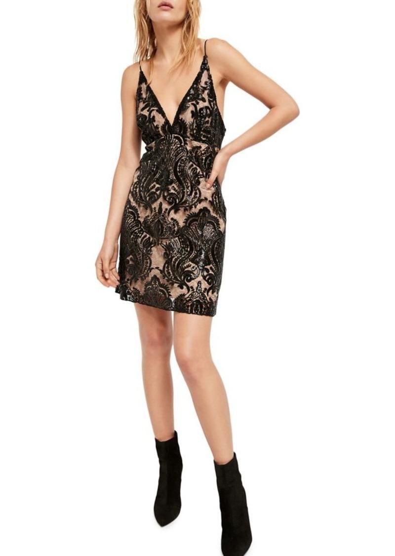 Free People Night Shimmers Mini Dress