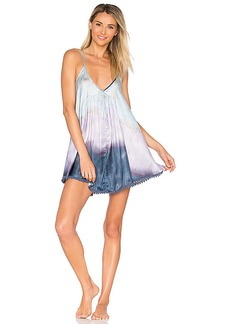 Free People Serena Washed Slip in Blue. - size L (also in M,S,XS)