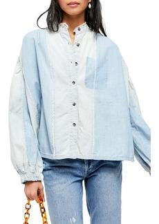 Free People Set Sail Button-Up Denim Shirt