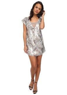 Free People Shattered Glass Sequin Midnight Dreamer Dress