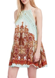 Free People Shea Printed Halter Neck Minidress