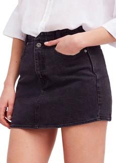 Free People She's All That Denim Miniskirt