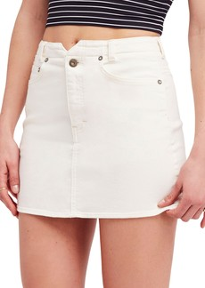 Free People She's All That Denim Skirt