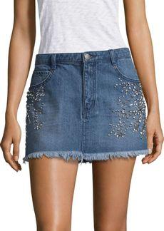 Free People Shine Bright Mini Denim Skirt