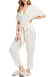Free People Shining Sun Tie Front Jumpsuit