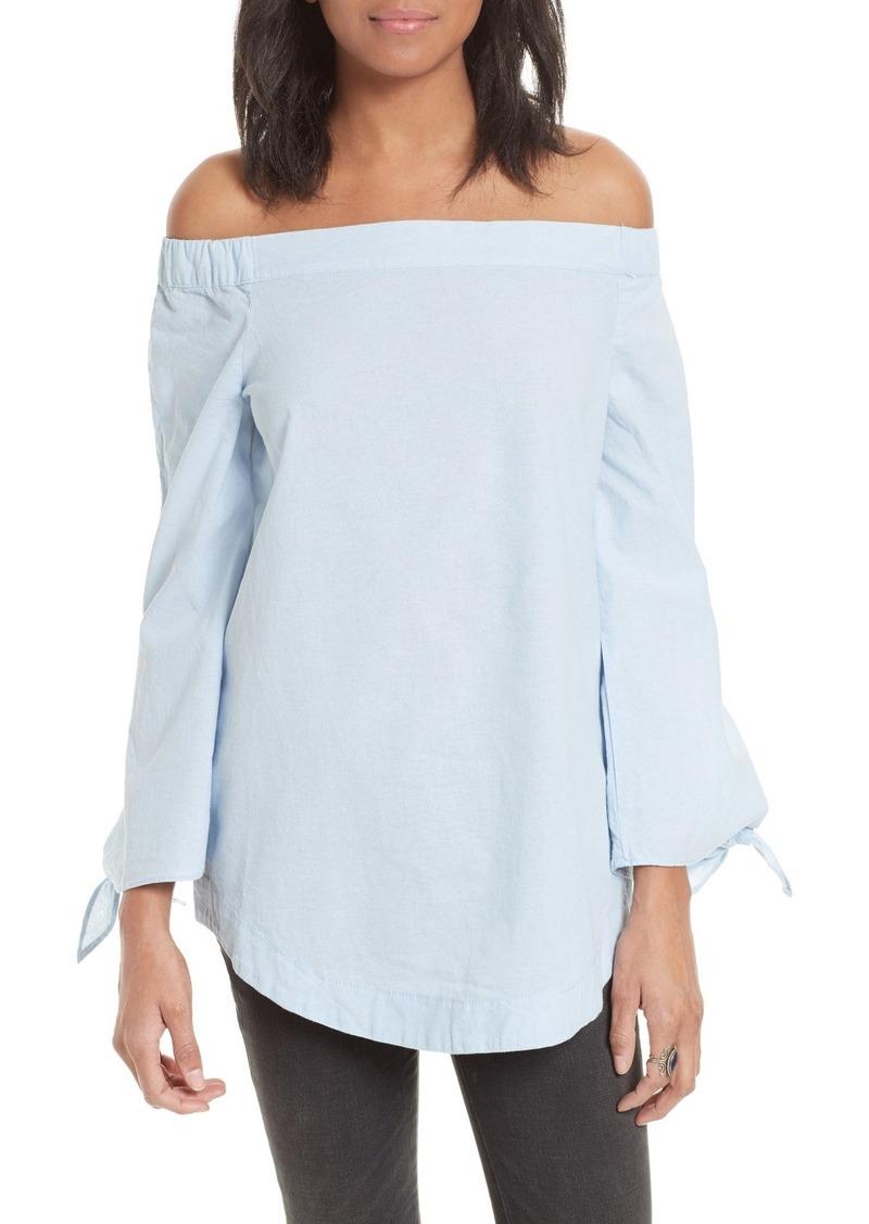 Free People 'Show Me Some Shoulder' Off the Shoulder Cotton Blouse