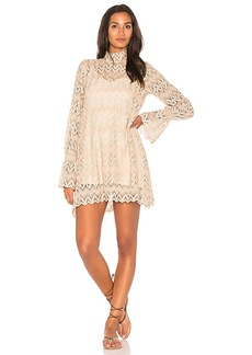 Free People Simone Mini Dress in Beige. - size L (also in M,S,XS)