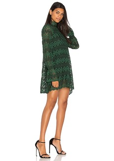 Free People Simone Mini Dress in Green. - size L (also in M,S,XS)