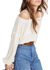 Free People Sistine Cold Shoulder Hacci Knit Top