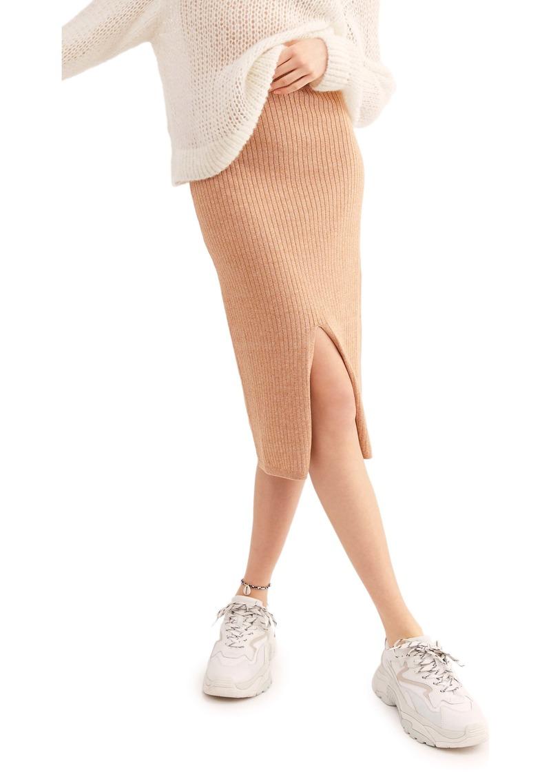 Free People Skyline Rib Midi Skirt