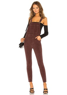 Free People Slim Ankle Cord Overall
