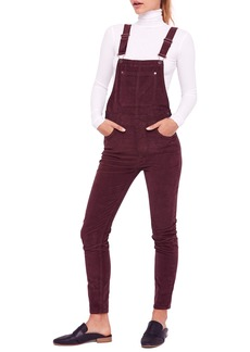 Free People Slim Ankle Corduroy Overalls