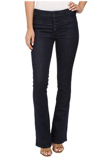 Free People Slim Flare Trouser Jeans in Denim Blue